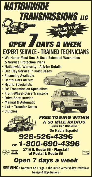 Our Services - Nationwide Transmission | Flagstaff, AZ